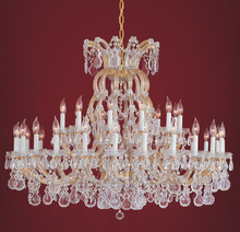Crystorama 4308-GD-CL-S - Crystorama 37 Light Gold Chandelier