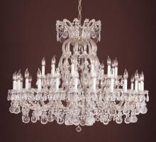Crystorama 4308-SAQ-SILVER - Crystorama 37 Light Silver Chandelier