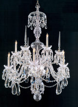 Crystorama 5070-CH-CL-MWP - Crystorama Traditional Crystal 9 Light Chrome Chandelier