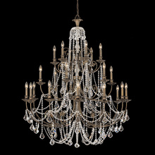Crystorama 5120-EB-CL-MWP - Crystorama Regis 24 Light Clear Crystal Bronze Chandelier