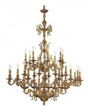 Crystorama 5247-AG - Crystorama Yorkshire 32 Light Aged Brass Chandelier
