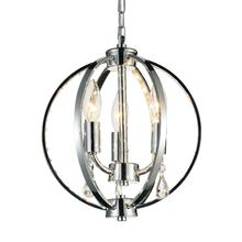 Crystal World 5025P10C-3 - 3 Light Chrome Up Mini Pendant from our Bird Cage collection