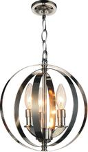 Crystal World 9811P10-3-613 - 3 Light Chrome Up Mini Pendant from our Delroy collection