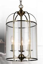 Crystal World 9912P11-3-604 - 3 Light Antique Bronze Up Chandelier from our Kalu collection