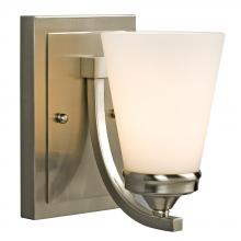 Galaxy Lighting 710751BN - Wall Sconce - Brushed Nickel with White Glass