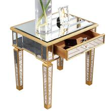 Elegant MF1-2001GC - End Table 26 in. x 20 in. x 26 in. in Gold Leaf