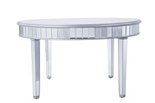 Elegant MF6-1037S - Round table D60 in. in Silver paint