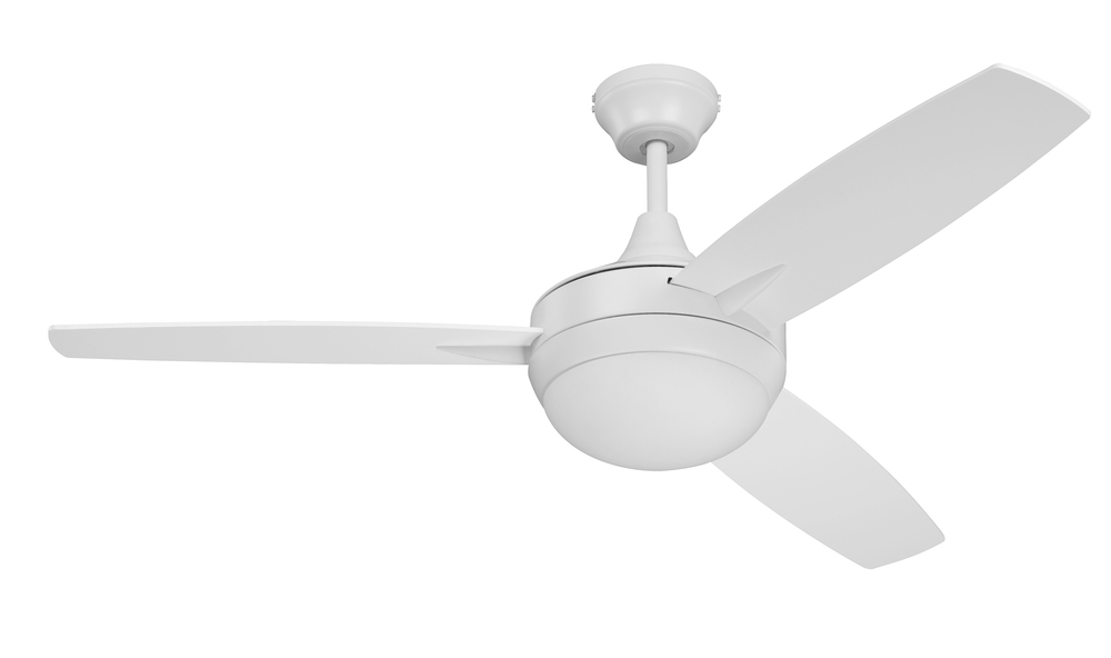"Targas 48"" Ceiling Fan with Blades and LED Light Kit in White"