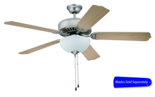 "Craftmade C201BN - Pro Builder 201 52"" Ceiling Fan with Light in Brushed Satin Nickel (Blades Sold Separately)"