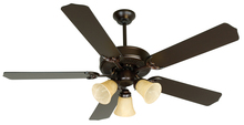 "Craftmade K10641 - Pro Builder 206 52"" Ceiling Fan Kit with Light Kit in Oiled Bronze"