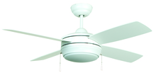 "Craftmade LAV44MWW4LK - Laval 44"" Ceiling Fan with Blades and Light in Matte White"