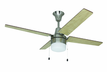 "Craftmade UBW48BC4C1 - Wakefield 48"" Ceiling Fan with Blades and Light in Brushed Chrome"