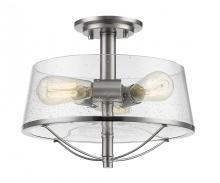 Z-Lite 444SF-BN - 3 Light Semi-Flush