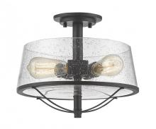 Z-Lite 444SF-BRZ - 3 Light Semi-Flush