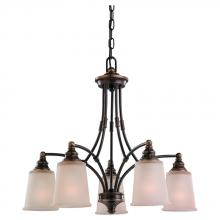 Sea Gull Canada 31333-715 - Warwick Five Light Chandelier in Autumn Bronze with Smoky Parchment Glass