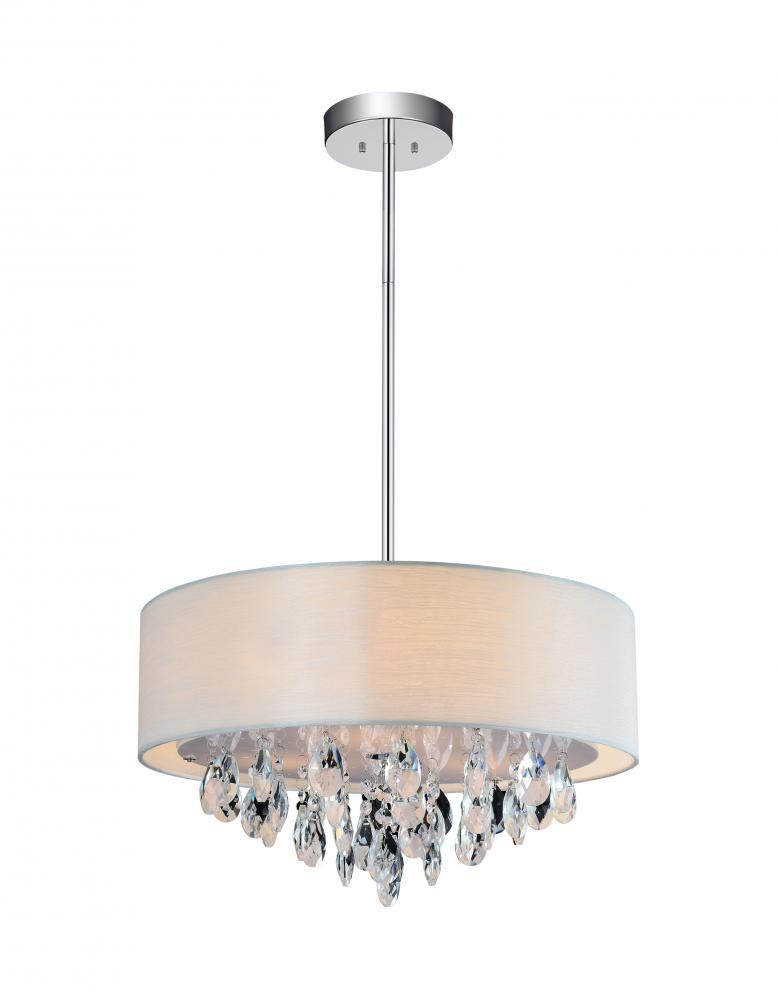 Paradise Lighting in Mississauga, Ontario, Canada,  305XF8R, 4 Light Chrome Drum Shade Chandelier from our Dash collection, Dash