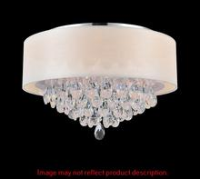 Crystal World 5443C18C (Wine Red) - 4 Light Chrome Drum Shade Flush Mount from our Dash collection