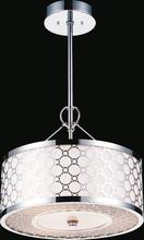 Crystal World 5504P16ST - 4 Light Down Chandelier with Chrome finish