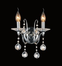 Crystal World 5507W12C-2 - 2 Light Wall Sconce with Chrome finish