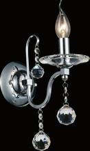 Crystal World 5507W5C-1 - 1 Light Wall Sconce with Chrome finish