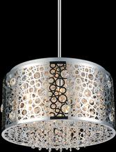 Crystal World 5536P16ST - 6 Light Drum Shade Chandelier with Chrome finish
