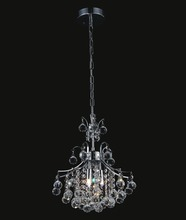 Crystal World 8012P12C - 3 Light  Mini Chandelier with Chrome finish