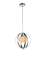 Crystal World 9801P12-1-601 - 1 Light Down Mini Pendant with Chrome finish