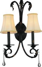 Crystal World 9814W14-2-120 - 2 Light Wall Sconce with Espresso finish