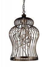 Crystal World 9887P16-9-182 - 9 Light Down Chandelier with Antique Gold finish