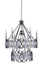 Crystal World 9894P29-10-224 - 10 Light Candle Chandelier with Gun Metal finish