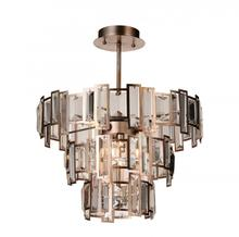 Crystal World 9903C18-5-193 - 5 Light Down Chandelier with Champagne finish