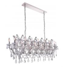 Crystal World 9910P49-21-601 - 21 Light Candle Chandelier with Chrome finish