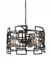 Crystal World 9913P19-3-205 - 3 Light Down Chandelier with Brown finish