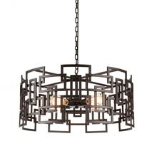 Crystal World 9913P25-4-205 - 4 Light Down Chandelier with Brown finish