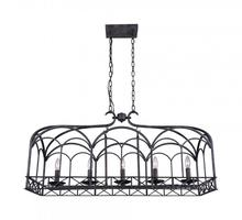 Crystal World 9936P37-5-223 - 5 Light Brownish Black Candle Island / Pool Table Chandelier from our Sequoia collection