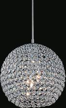 Crystal World QS8351P10C - 1 Light Chrome Mini Chandelier from our Globe collection
