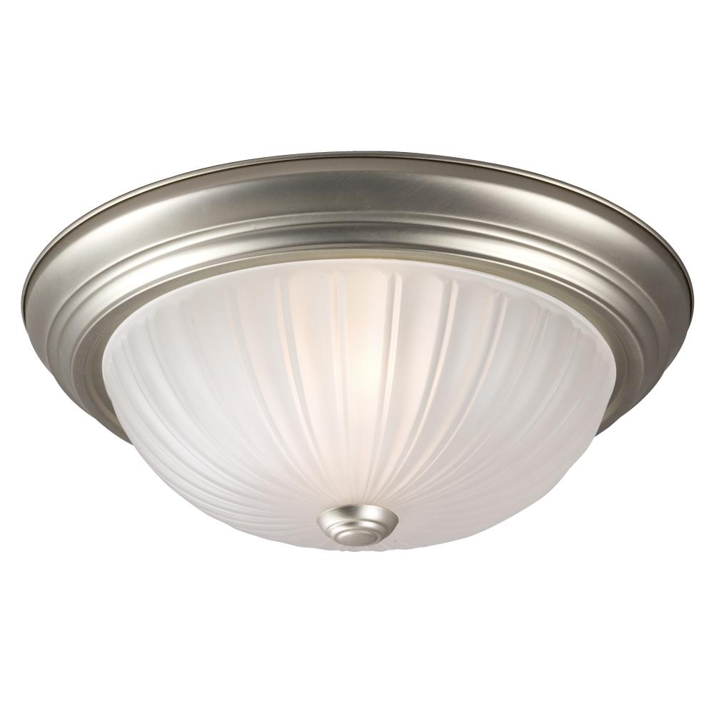 Paradise Lighting in Mississauga, Ontario, Canada,  6UJN7, Flush Mount - Pewter w/ Frosted Melon Glass,