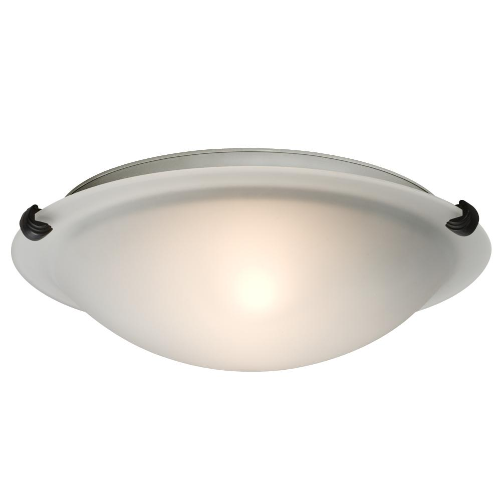 Flush Mount - Oil Rubbed Bronze W/ Frosted Glass