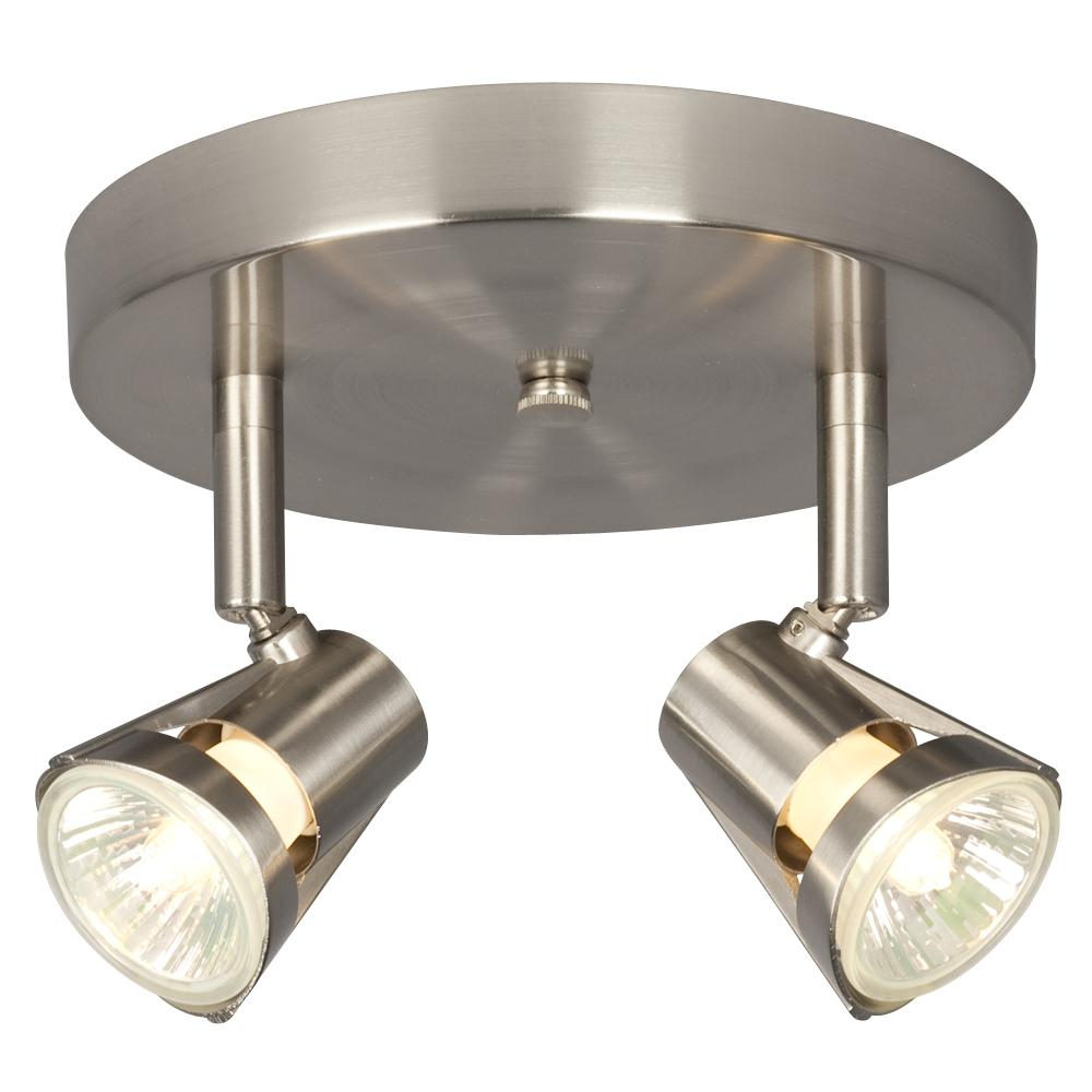 Two Light Halogen Monopoint - Brushed Nickel