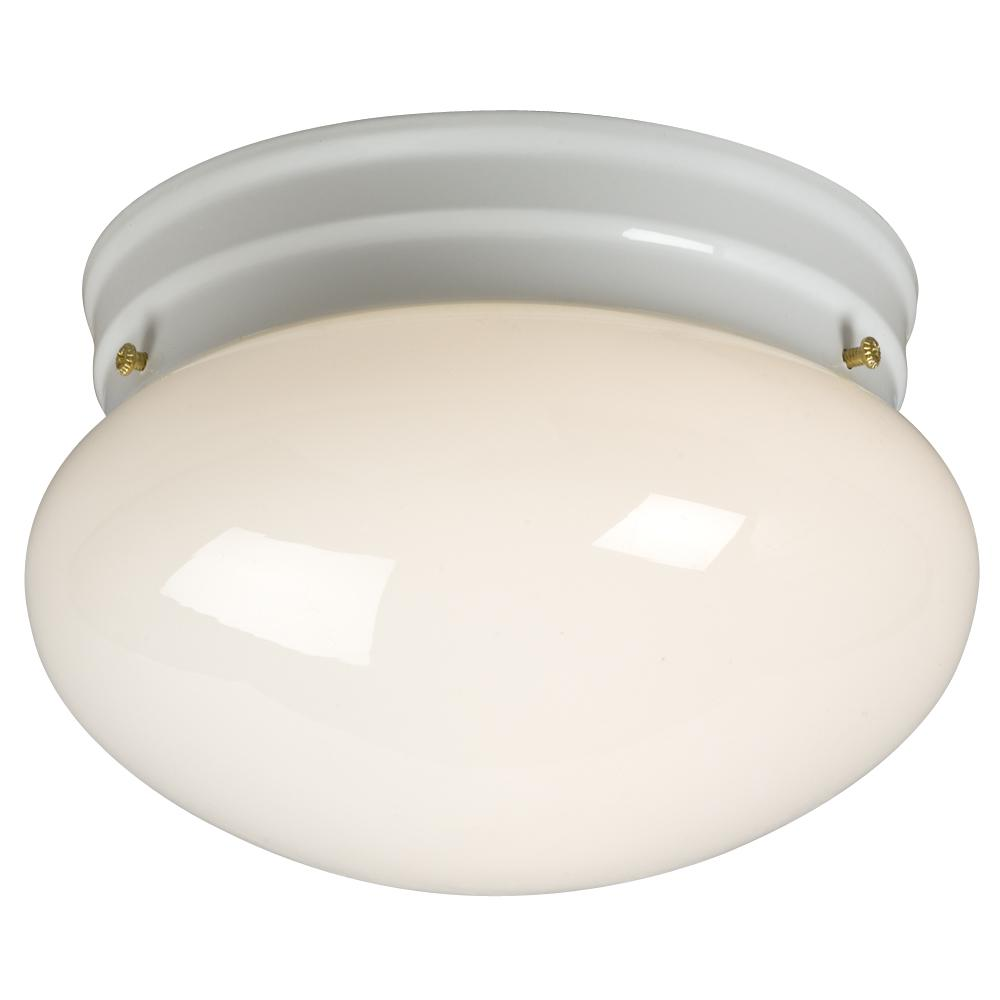 Paradise Lighting in Mississauga, Ontario, Canada,  6UGQV, Utility Flush Mount - White w/ White Glass,