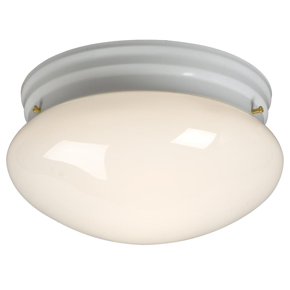 Paradise Lighting in Mississauga, Ontario, Canada,  6UJMJ, Utility Flush Mount - White w/ White Glass,