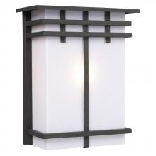 Galaxy Lighting 312491ORB - Outdoor Wall Fixture - Black with White Acrylic Lens