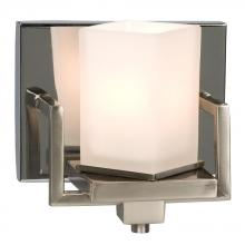 Galaxy Lighting 701061BNC - Single Light Vanity - Brushed Nickel / Chrome with Frosted White Glass