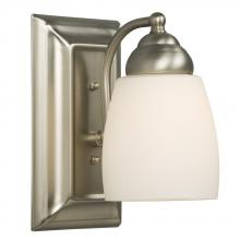 Galaxy Lighting 724131BN - Single Light Vanity - Brushed Nickel w/ Satin White Glass