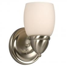 Galaxy Lighting 728121BN/WH - Single Light Vanity - Brushed Nickel w/ White Satin Glass