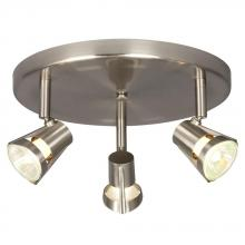 Galaxy Lighting 755599BN - Three Light Halogen Monopoint - Brushed Nickel