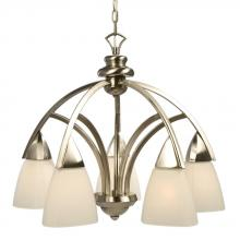 Galaxy Lighting 801355BN - Five Light Nickel Down Chandelier