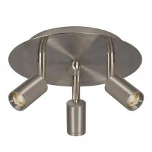 Galaxy Lighting L753159BN - 3-Light Led Spot Light Ceiling Pan (3 X 3.5W) In Brushed Nickel - Dimmable