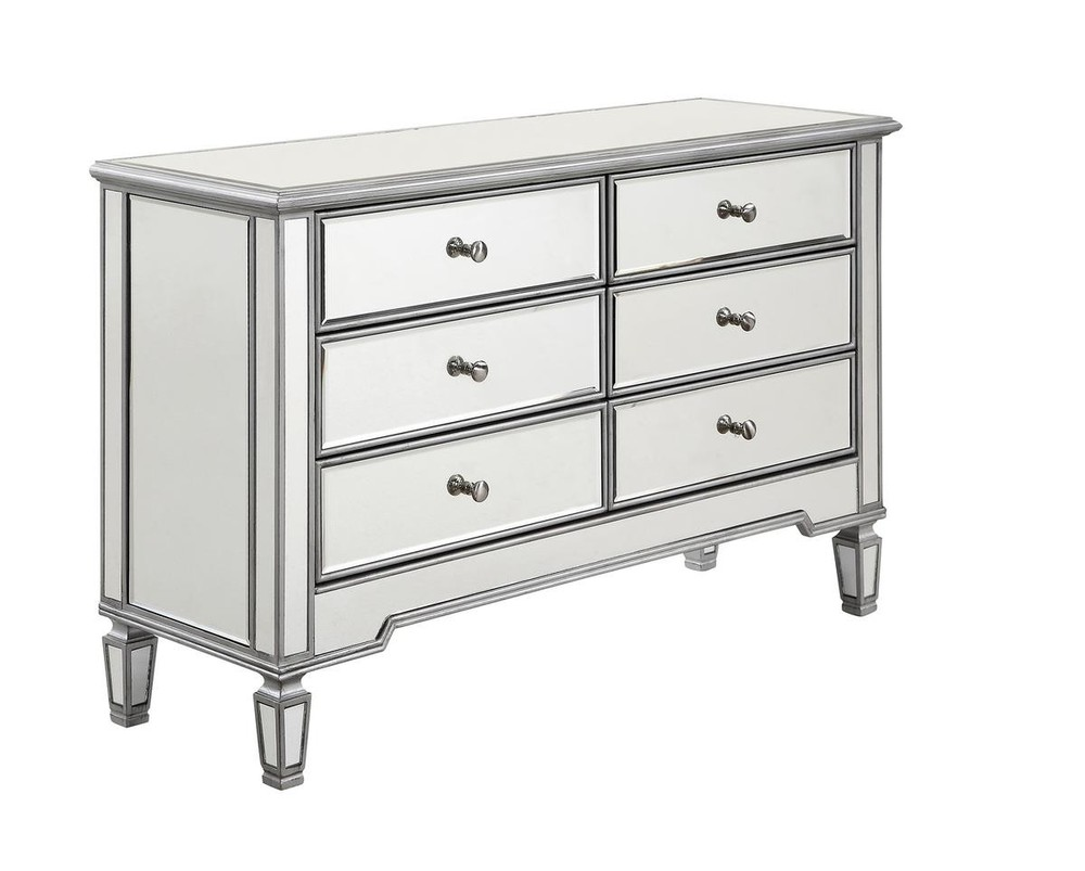 Paradise Lighting in Mississauga, Ontario, Canada,  HV41G, 6 Drawer Dresser 48 in. x 18 in. x 32 in. in Silver paint, Contempo