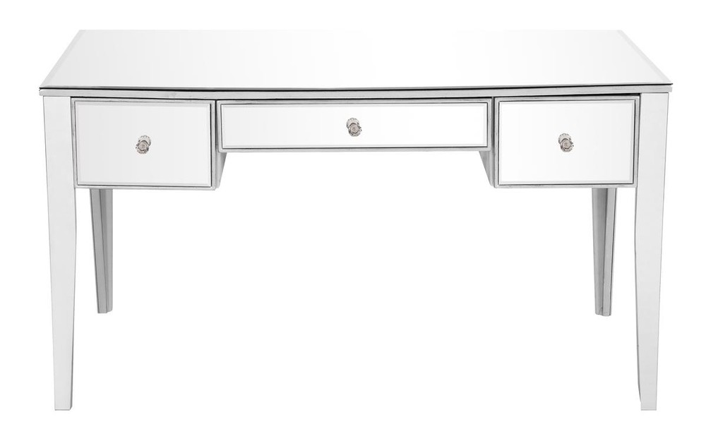 Paradise Lighting in Mississauga, Ontario, Canada,  HV41V, 3 Drawer Rectangle Desk 54 in. x 27 in. x 30 in. in Silver paint, Contempo